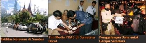 akifitas relawan PKS di lokasi bencana gempa Sumatera